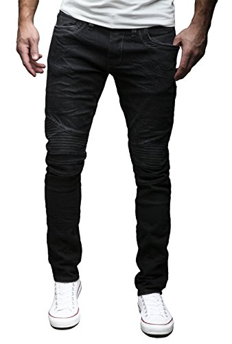 Merish herren jeans hose chino slim fit