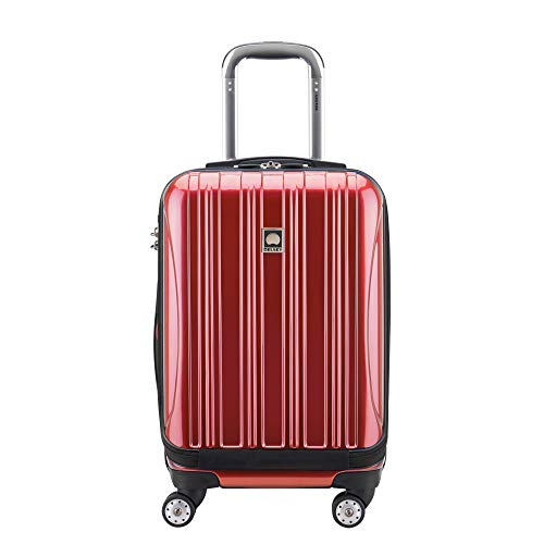 DELSEY Paris Luggage Helium Aero International Carry On Expandable Spinner Trolley-19', Brick Red