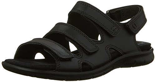 Ecco Babette Sandal Black Feather Babett 3 Strap - Mocasines de cuero para mujer, color azul, talla 36 BLACK1001
