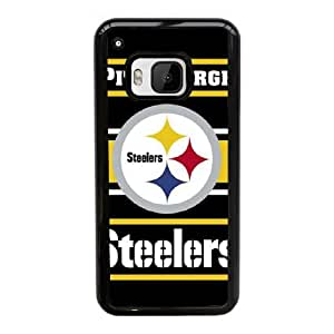Pittsburgh Steelers funda HTC uno M9 caso del teléfono celular funda X2I1UIOOFE negro