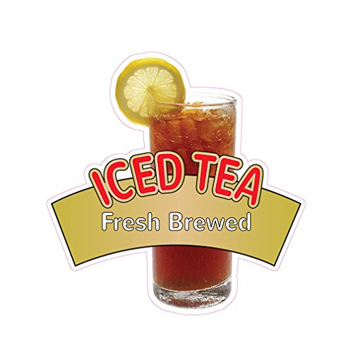 Iced Tea Fresh Brewed Concession Restaurant Food Truck Die-Cut Vinyl Sticker 14 ()