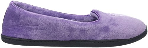 Violet W Purple Closed 10505 Back Femme Velour Chaussons Bas Dearfoams Smokey Embr 1wZ6Rx68q