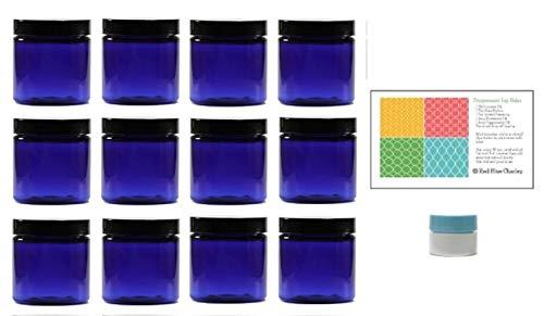 blue 4 oz plastic jar - 5