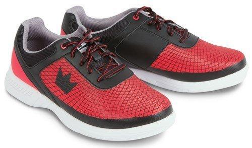 Brunswick Frenzy Mens Bowling Shoe Black/Red Wide, 11.0