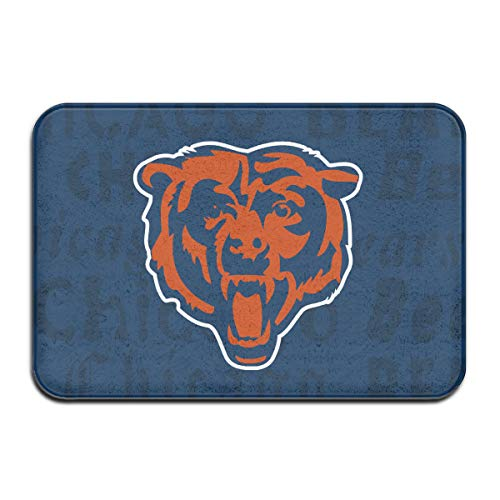 Marrytiny Design Colorful Doormat American Football Team Chicago Bears Indoor Non Slip Floor Doormat Mats Suitable Bathroom Bedroom Entrance Toilet 15.7 X 23.6 Inches