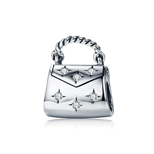 PHOCKSIN Ladies Bag 925 Sterling Silver Bead Charms for Bracelets ()