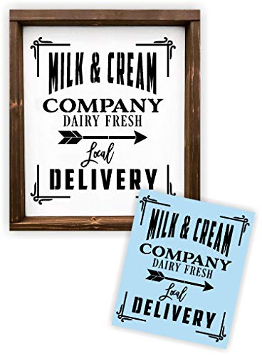 ream Dairy Stencil for Painting Wood Signs - Reusable ()