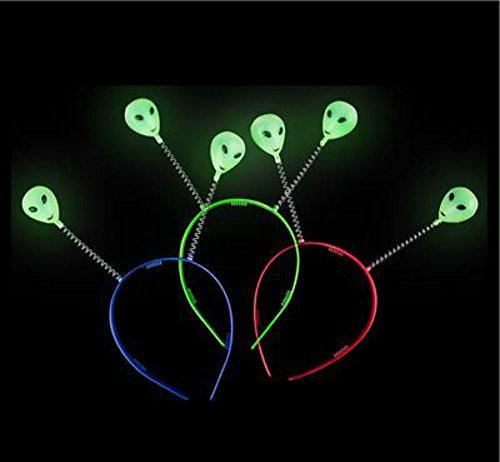 PlayO Alien Head Boppers - Glow in The Dark Alien Headband Boopers 10