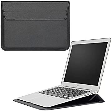 """Leather PU BK Computer Carrying Sleeve Bag 13/"""" Tablet PC Laptop MacBook"""