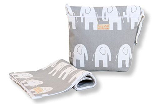 Foxy Vida Wet Bag Set - Grey Elephant by Foxy Vida
