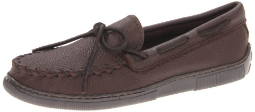 Minnetonka Men's Moosehide Classic Moccasin,Chocolate Moose,11 W - Men For Minnetonkas
