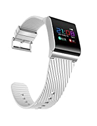 Colorfol LED Smart Wrist Watch X9 Pro HR Bluetooth 4.0 Bracelet Sport Watches for Android /iOS (White)