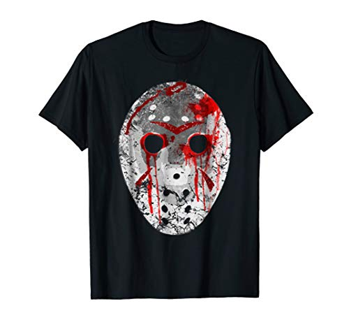 Friday 13TH Shirt Jason Bloody Mask Halloween T-Shirt ()