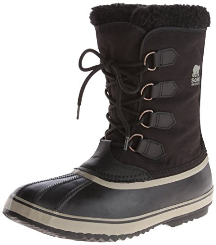 Sorel Men's 1964 Pac Nylon Snow Boot,Black/Tusk,10.5 M US