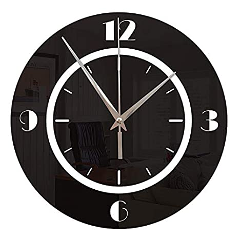 Amazon.com: 3D DIY Wall Clock Modern Design Saat Reloj De Pared Metal Art Clock Living Room Acrylic Mirror Watch Horloge Murale 106 Gold: Home & Kitchen