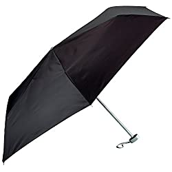 All-weather Gfumlt Solid Black Mini Umbrella