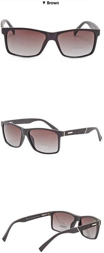 Yiph-Sunglass Moda Occhiali da Sole Occhiali da Sole polarizzati HD per Uomo Drive Occhiali da Sole da Uomo Occhiali da Sole Vintage ortogonali (Colore : Blu) Marrone