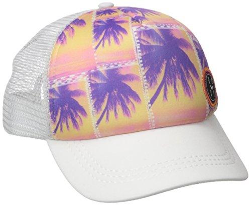 [Roxy Juniors Truckin Ethnic Palm Trucker Hat, Sea Salt, One Size] (Ethnic Hats)