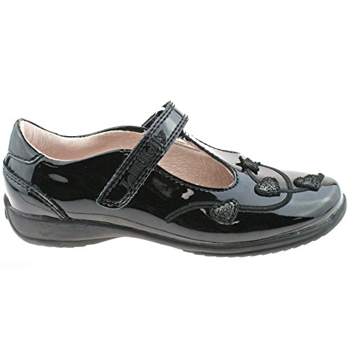 Lelli Kelly LK8250 (DB01) Chloe Black Patent T-Bar School Shoes F Width-EU 24 (UK 6.5)