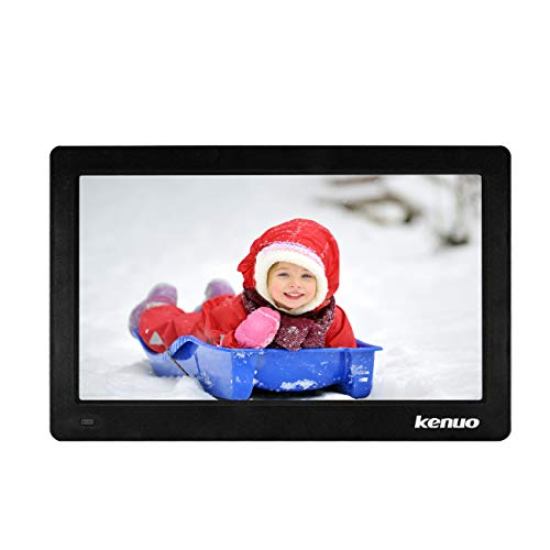 Digital Photo Frame 11.6 inch,Kenuo IPS 16:9 Screen with HD 1920X1080 Eletronic Picture Frame Advertising Player with Remote Control Calendar Auto On/Off Timer – Black