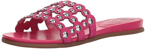Vince Camuto Women's Ellanna Slide Sandal, hot Berry Pink, 5.5 Medium US