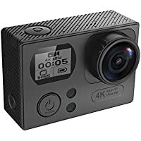 Midou M86R 4K16MP Wifi Sports Action Camera Ultra Slim Double Screen Underwater Camcoder With 170°Lens,2 Pcs 1050mAh Rechargeable Batteries ( Black)