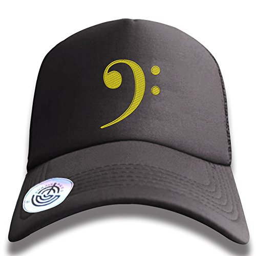 PROUDBRO.JR Unisex Embroidery Hat Dad Baseball Cap Unconstructed Polo Style Adjustable - F-Clefs Bass Clef (Shirt Embroidered Polo Bass)