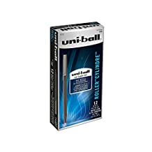 uni-ball Roller Rollerball, Stick Roller Ball Pen Fine-0.7mm, 12 Pack, Red Ink (60102)