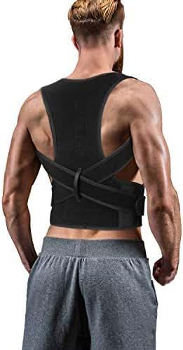 Back Brace Posture Corrector for Women Men - Back Lumbar Adjustable Support Shoulder Posture Support for Improve Posture Provide and Back Pain Relief - for Lower and Upper Back Pain