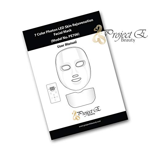 Project E Beauty 7 Colors LED Mask Face & Neck Photon Light Skin Rejuvenation Therapy Facial Skin Care Wireless Mask by Project E Beauty (Image #6)