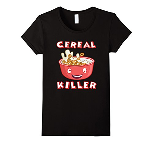 Womens Original Cereal Killer Shirt - Halloween Costume Shirt Medium Black