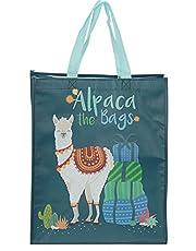 Puckator Alpaca Design Reusable Shopping Bag, fabric, Mixed, Height 40cm Width 33cm Depth 18cm