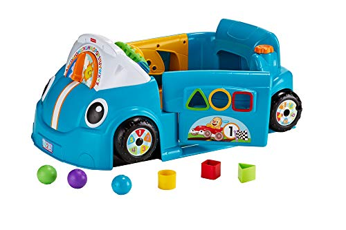 Fisher-Price Laugh & Learn Smart Stages Crawl Around Car, Blue (Fisher Price Laugh And Learn Puppy Push Car)