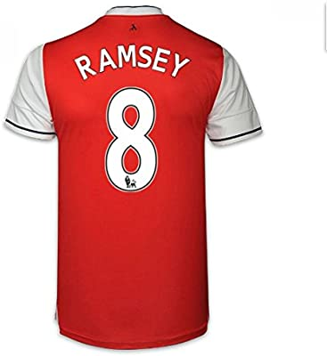f77763d2511 Amazon.com   UKSoccershop 2016-17 Arsenal Home Shirt (Ramsey 8) - Kids    Sports   Outdoors