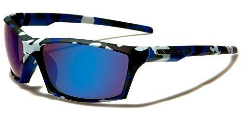 X-Loop Sonnenbrille Sport Herren Damen Blau Camouflage getönte Gläser zZb5lXLDL