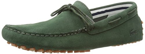 Lacoste Mens Concours Lace 216 1 Slip-On Loafer Dark Green