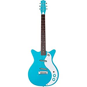 danelectro 39 59m nos double cutaway electric guitar baby come back blue musical. Black Bedroom Furniture Sets. Home Design Ideas