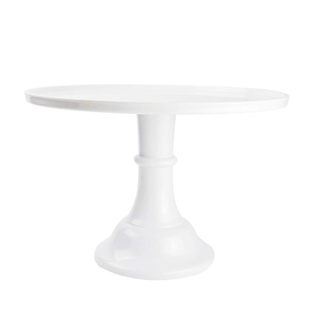 white cake pedestal