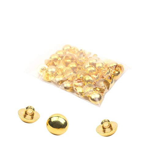 50 Pcs Classic Gold Dome Buttons Fashion Half Ball Dome Metal Button Mushroom Head Windbreaker Suit Shirt Buttons