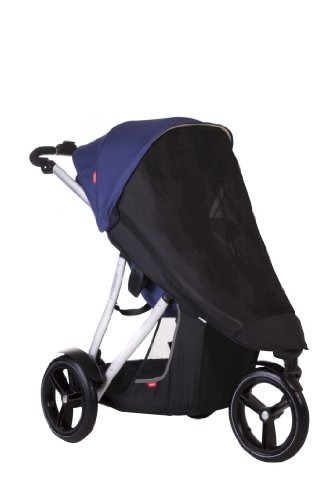 phil&teds UV Sunny Days Mesh Cover for Vibe and Verve Strollers, Single