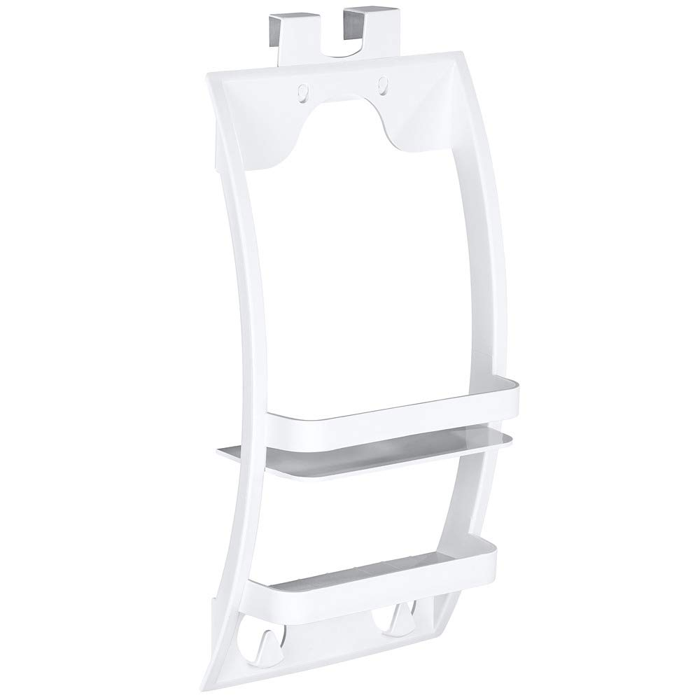Wenko 2 Tier Bathroom Shelf Universal Hanging Wall Shelf