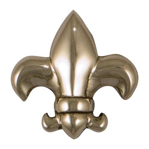 (Fleur de Lys Doorbell Ringer - Nickel Silver by Michael Healy Designs)