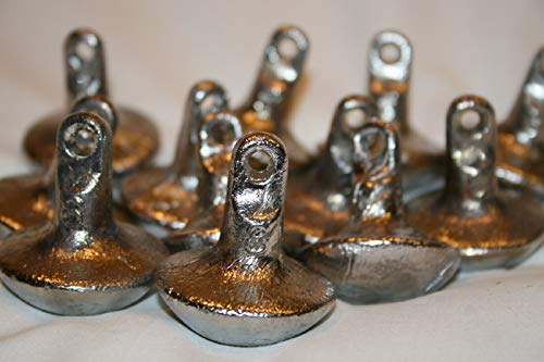 steel-charms 24 Duck Decoy Weights Goose Mushroom Style Anchors 8 oz ()