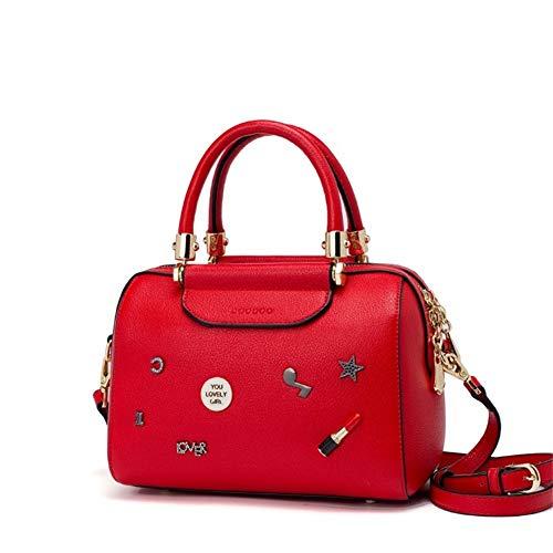 beige Correa Hombro Mujer Ahwz La Moda Mensajero Bolso Hombro De Bolsa Red Con Mano qxp1xAv7