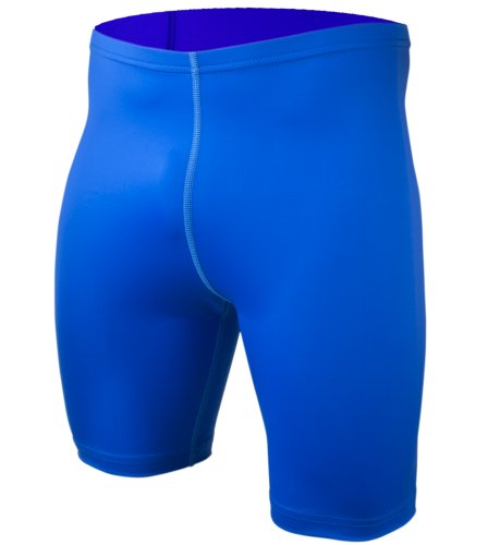 BIG Man Spandex Compression Short - Exercise Workout Shorts Made in USA (3XL, Royal Blue)
