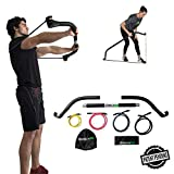 Gorilla Bow Portable Home Gym Resistance Band System, Weightlifting and HIIT Interval Training Kit, Full Body Workout Equipment
