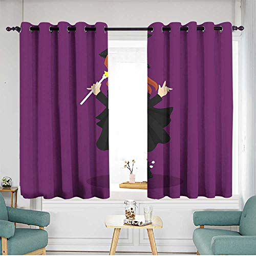 home1love Waterproof Window Curtains Blackout Window Curtain 2 Panel W 63