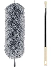 Microfiber Duster for Cleaning with Telescoping Extension Pole(Max 100''),Extendable Duster with Scratch-Resistant Cover,Washable Lint Free Dusters for Cleaning Ceiling Fan,High Ceiling,Cobwebs,Blinds…