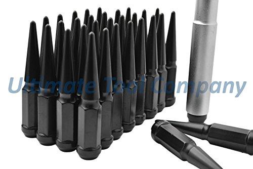 (UTC 32 Pc Black Solid Steel Spike 9/16