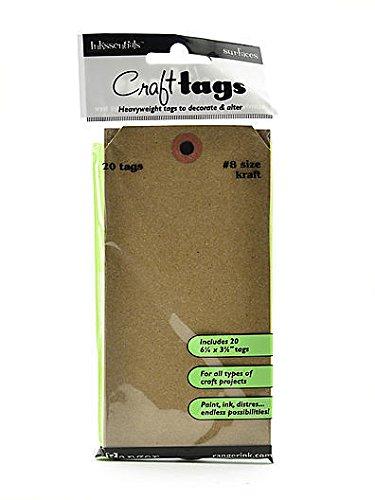 x 3 1//8 In Ranger Inkssentials Craft Tags Kraft - #8 6 1//4 In 3 pcs sku# 1847367MA